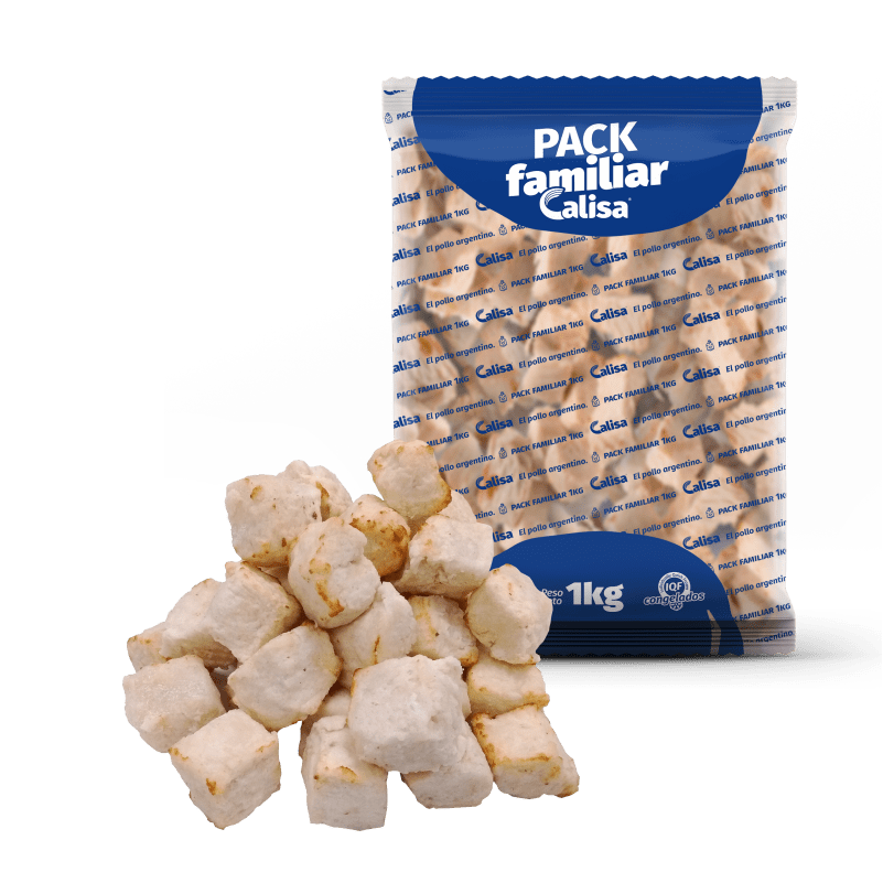 Cubos de pollo cocidos de 10x10